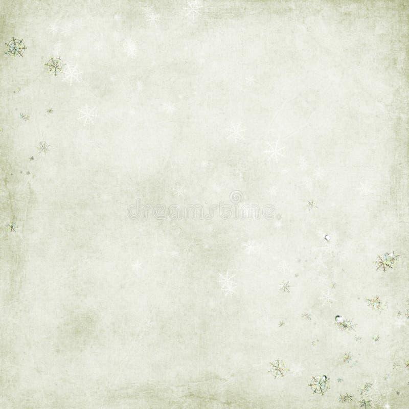 Download Priorità Bassa Verde Con I Fiocchi Di Neve Illustrazione di Stock - Illustrazione di verde, scintillio: 7321677