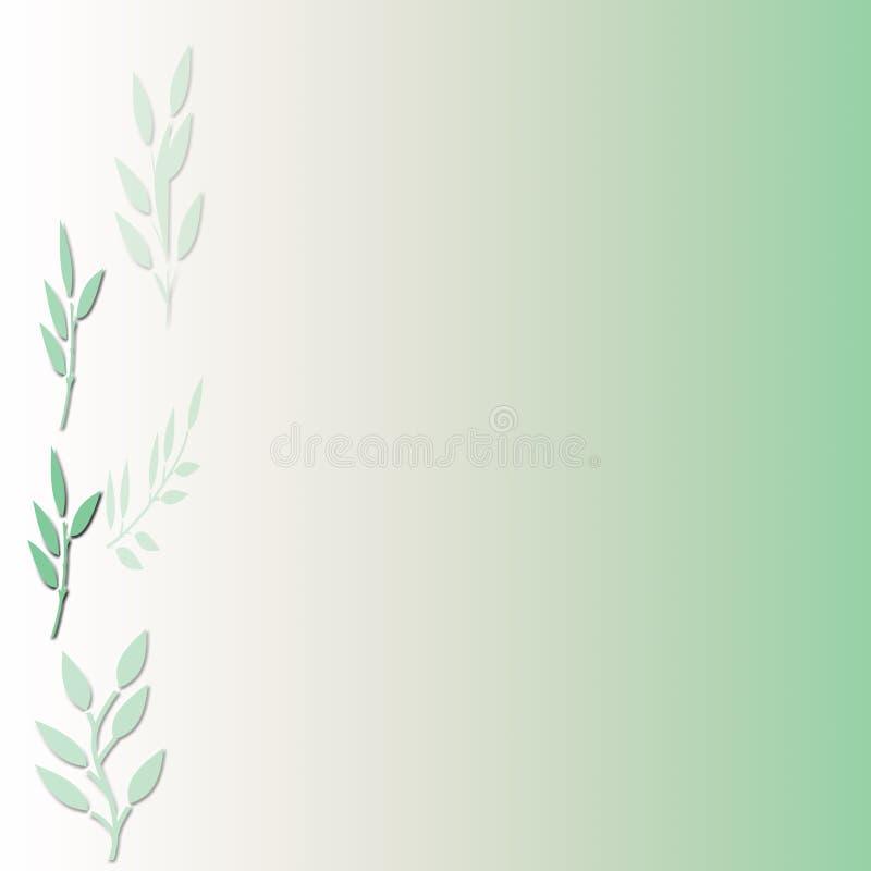 Priorità bassa verde del foglio illustrazione vettoriale