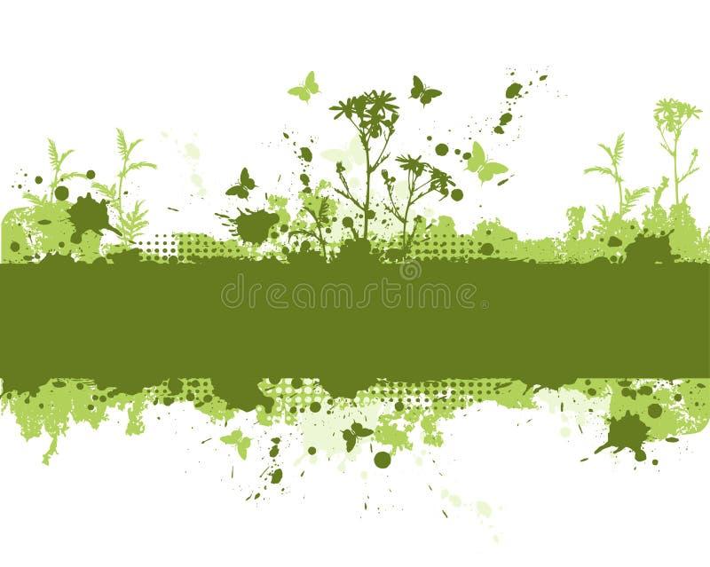 Priorità bassa verde del grunge illustrazione vettoriale
