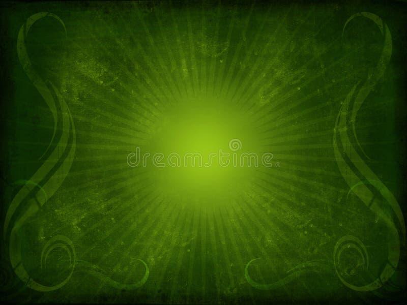 Priorità bassa verde dell'annata illustrazione di stock