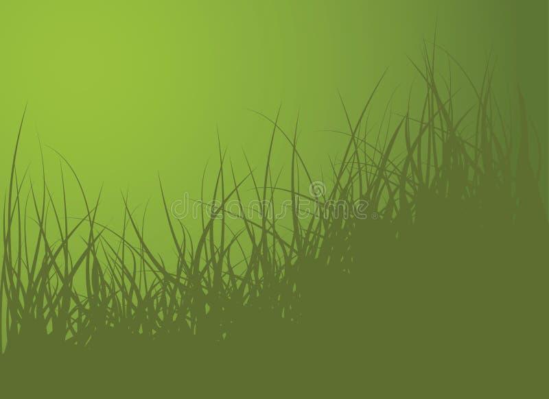 Priorità bassa verde dell'erba di vettore royalty illustrazione gratis
