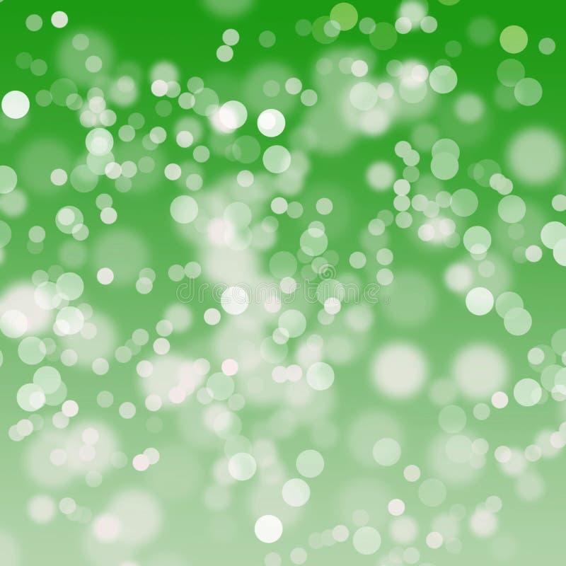Priorità bassa verde dell'indicatore luminoso dell'estratto del bokeh fotografia stock