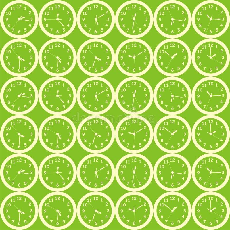 Priorità bassa verde dell'orologio fotografie stock libere da diritti