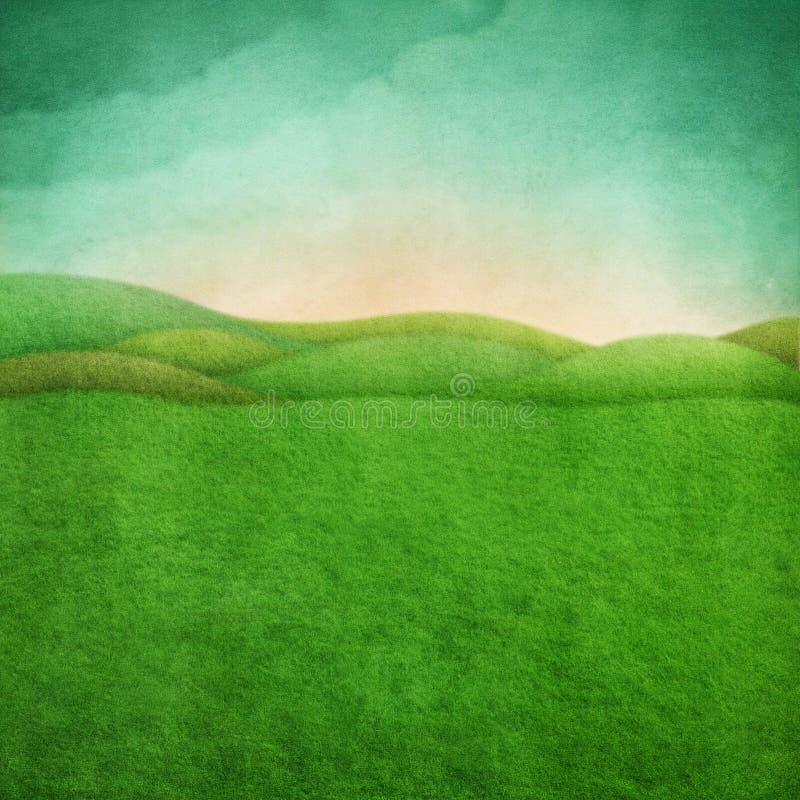 Priorità bassa verde della sorgente illustrazione di stock