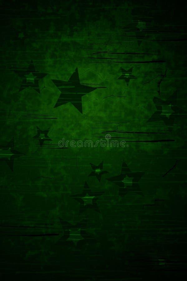 Priorità bassa verde della stella illustrazione vettoriale