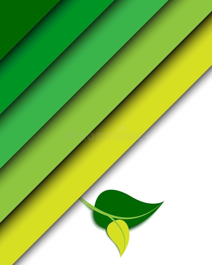 Priorità bassa verde di ecologia illustrazione di stock