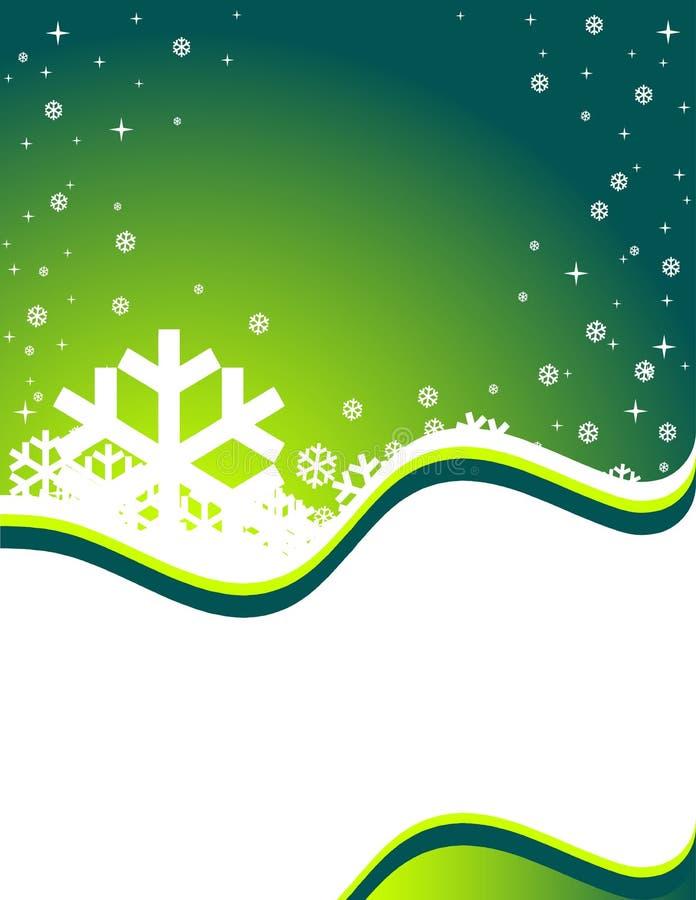 Priorità bassa verde di inverno illustrazione vettoriale