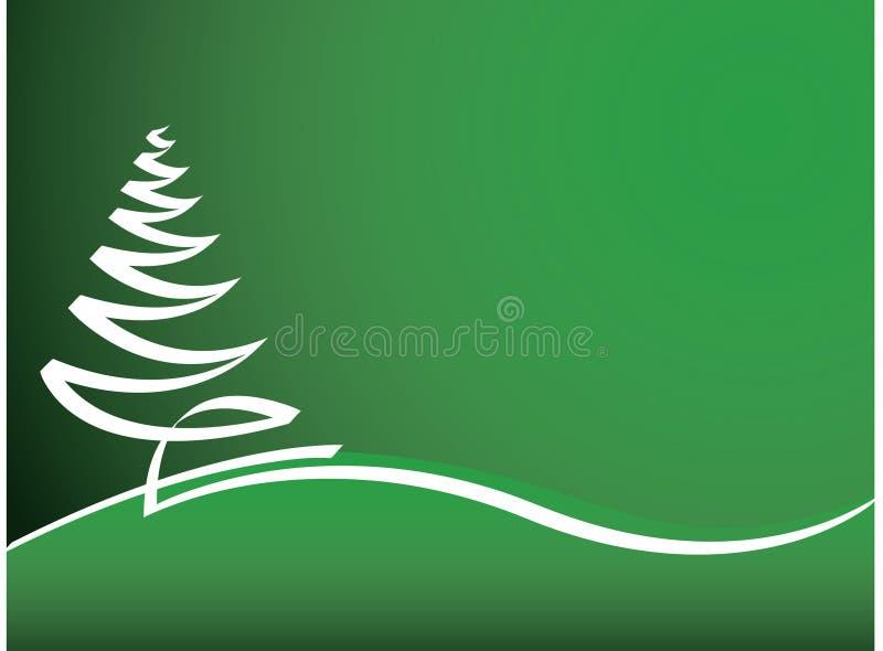 Priorità bassa verde di natale illustrazione di stock