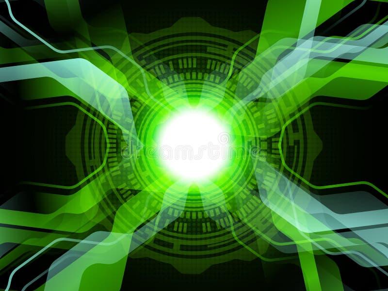 Priorità bassa verde di tecnologia illustrazione astratta di vettore illustrazione vettoriale