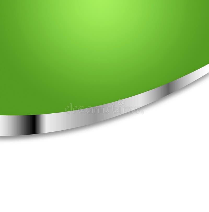 Priorità bassa verde e d'argento illustrazione di stock