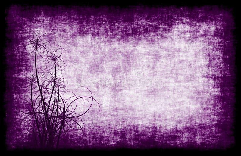 Priorità bassa viola di Grunge floreale royalty illustrazione gratis