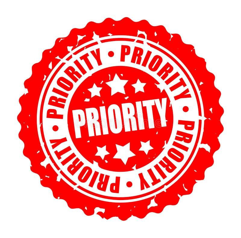 PRIORITÉ ronde de timbre de vecteur illustration de vecteur