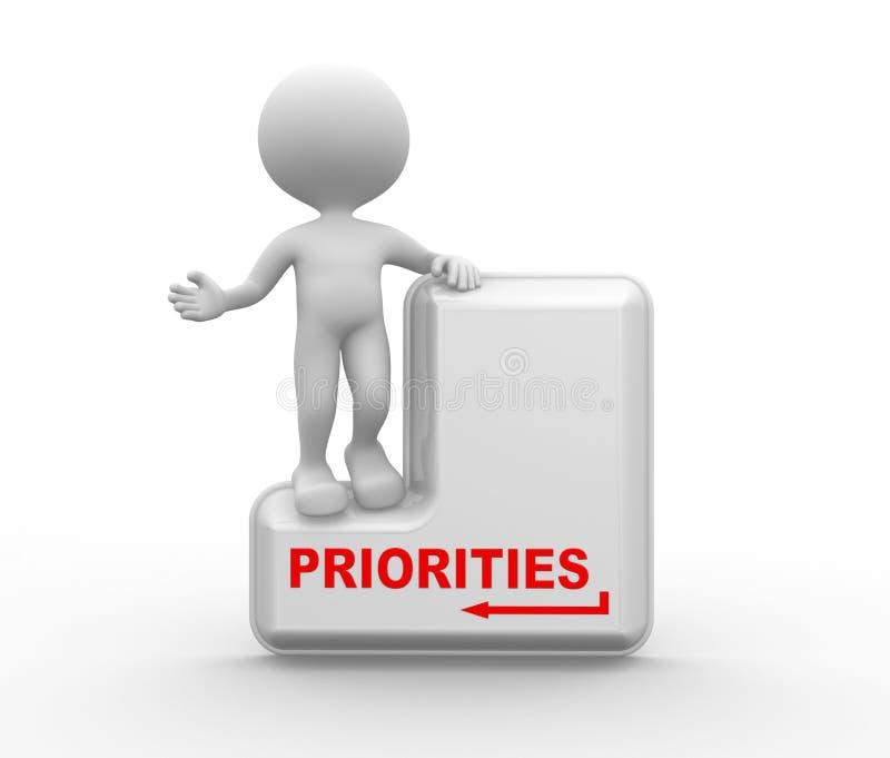 priorités illustration stock