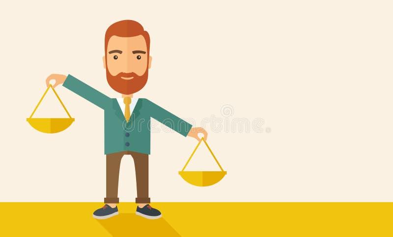 Priorités de équilibrage illustration libre de droits