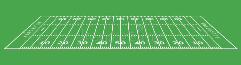 Priorit? bassa del campo di football americano Illustrazione del campo di erba dello stadio di rugby illustrazione vettoriale