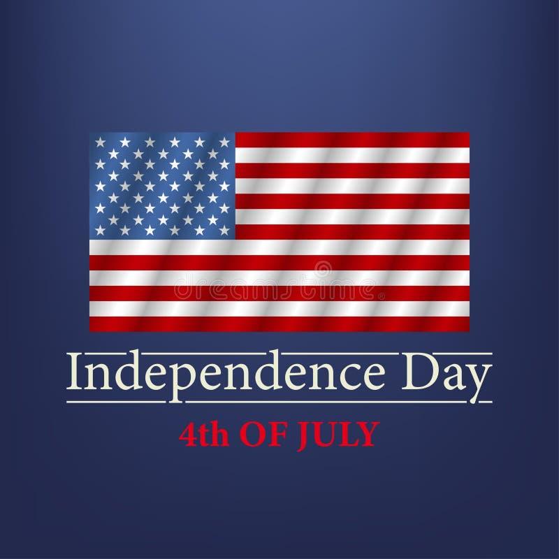 Priorit? bassa del grunge di indipendenza Day quarto del testo di luglio Vettore illustrazione vettoriale