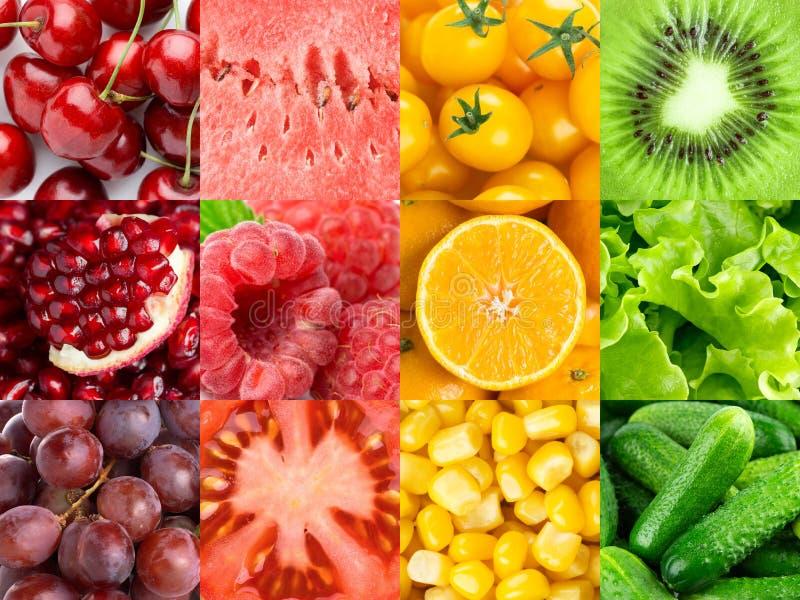 Priorit? bassa delle frutta e delle verdure Vitamine immagine stock libera da diritti