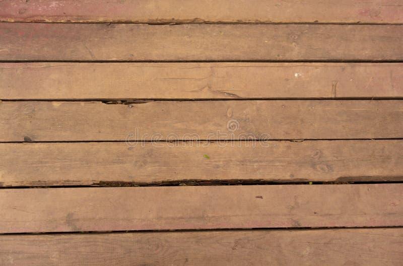 Priorit? bassa di legno di struttura Vecchi pannelli calpestati del bordo immagini stock libere da diritti