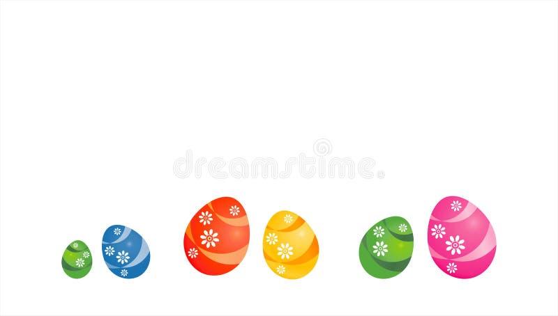 Priorit? bassa di Pasqua Progettazione dell'elemento Uova dipinte multicolori di Pasqua isolate su fondo bianco Vettore fotografia stock