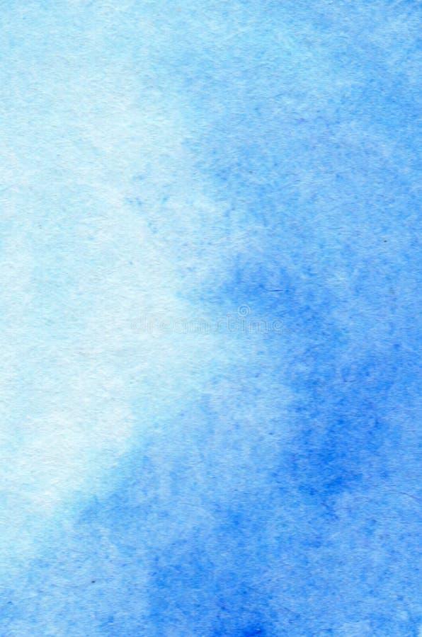 Priorit? bassa dipinta a mano astratta dell'acquerello Struttura blu-chiaro del fondo dell'acquerello, cielo illustrazione vettoriale