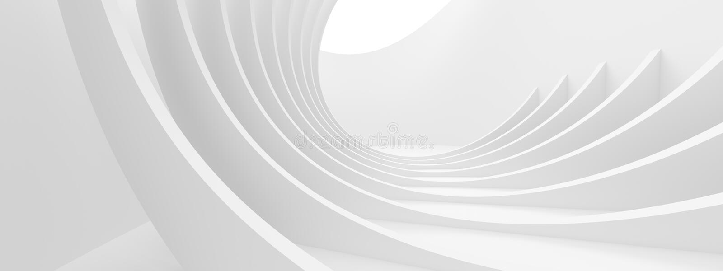Priorit? bassa monocromatica astratta Progettazione futuristica minima illustrazione vettoriale