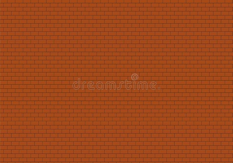 Priorit? bassa rossa del muro di mattoni I mattoni strutturano il vettore senza cuciture del modello illustrazione vettoriale