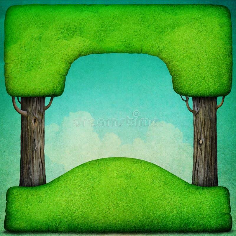 Priorit? bassa verde di estate royalty illustrazione gratis