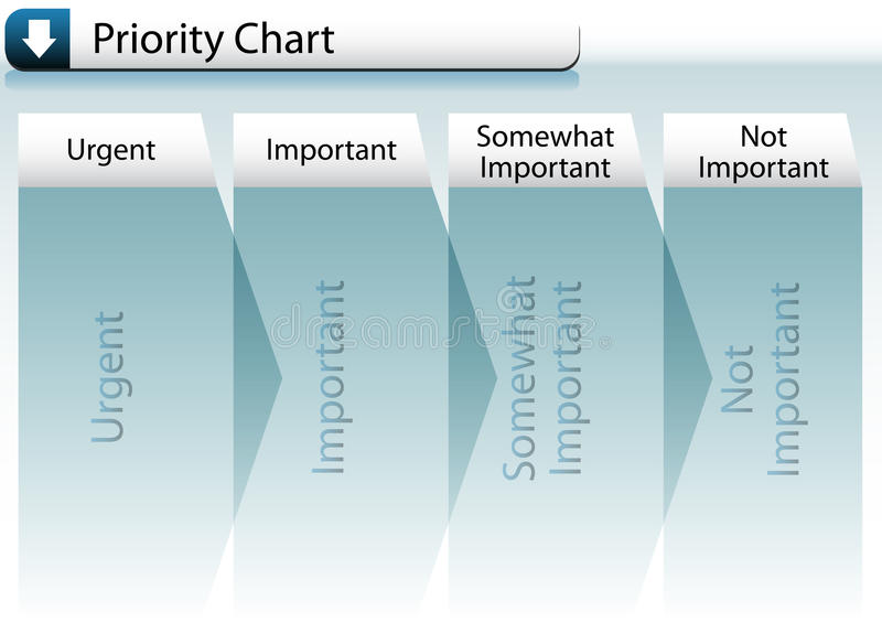 Prioritaire Grafiek royalty-vrije illustratie