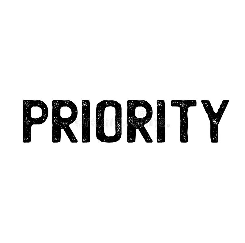 Priority stamp on white. Background . Sign, label sticker vector illustration
