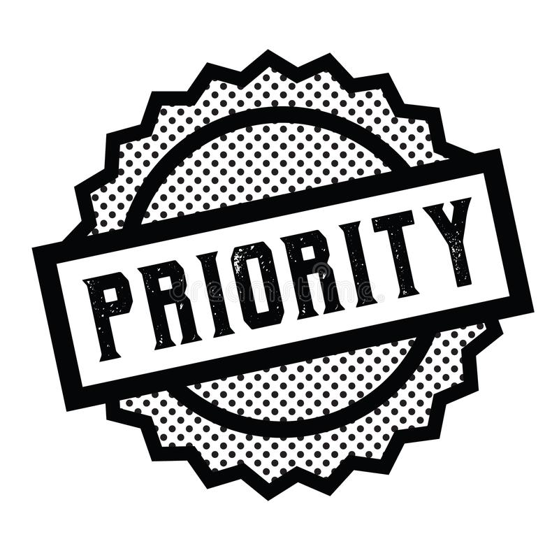 Priority stamp on white. Background . Sign, label sticker royalty free illustration