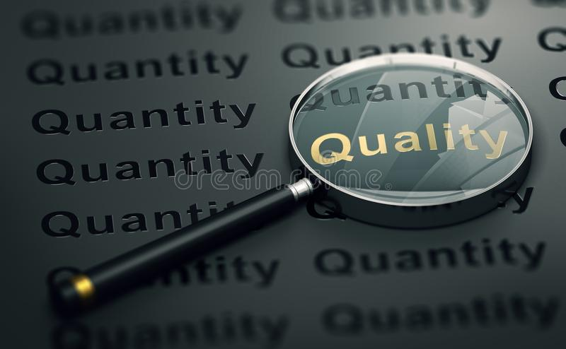 Priority to Quality Over Quantity royalty free illustration