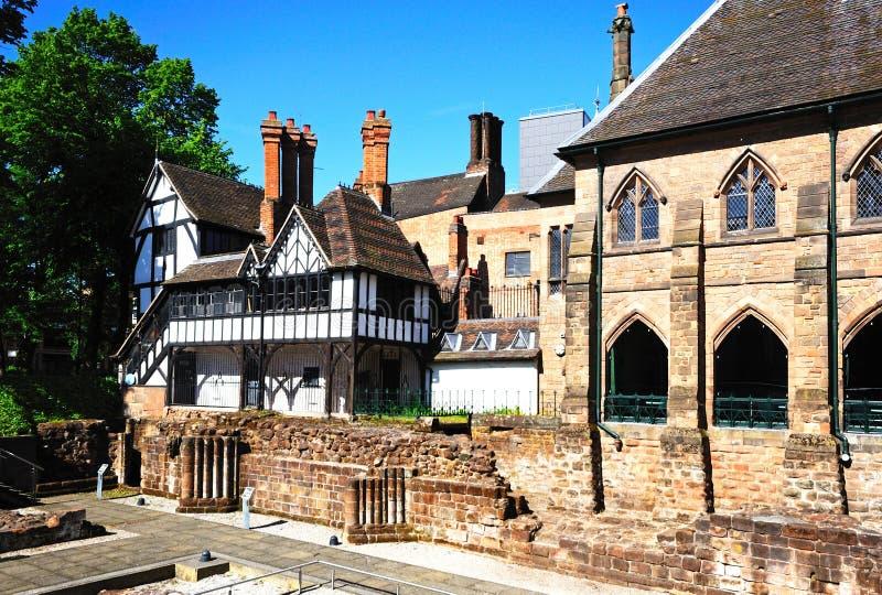 Priorsklosterträdgård för St Marys, Coventry arkivfoton