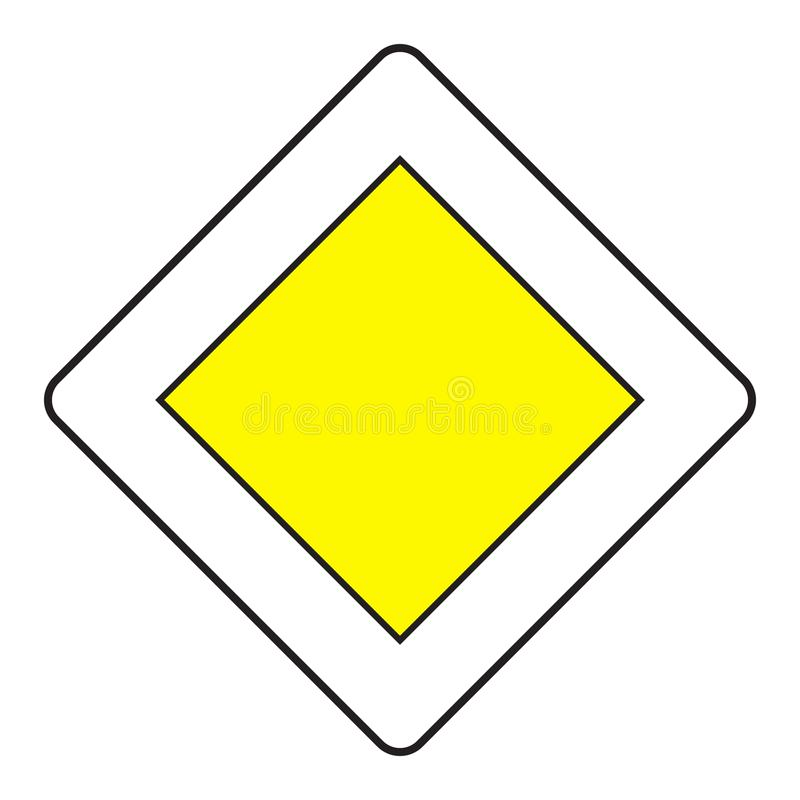Priorytetu drogowy znak royalty ilustracja