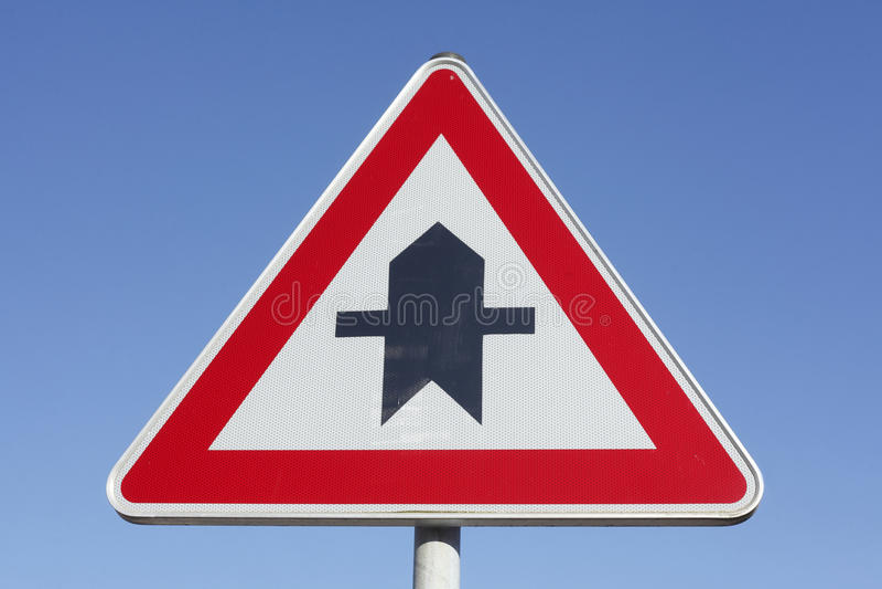 Priorytetu ruchu drogowego znak zdjęcie royalty free