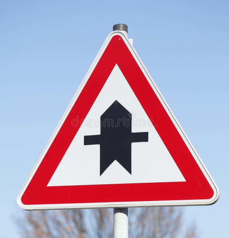 Priorytetu ruchu drogowego znak obraz royalty free