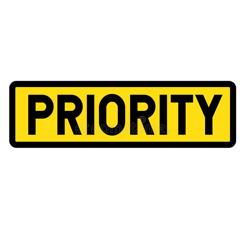 Priorytetu znak royalty ilustracja