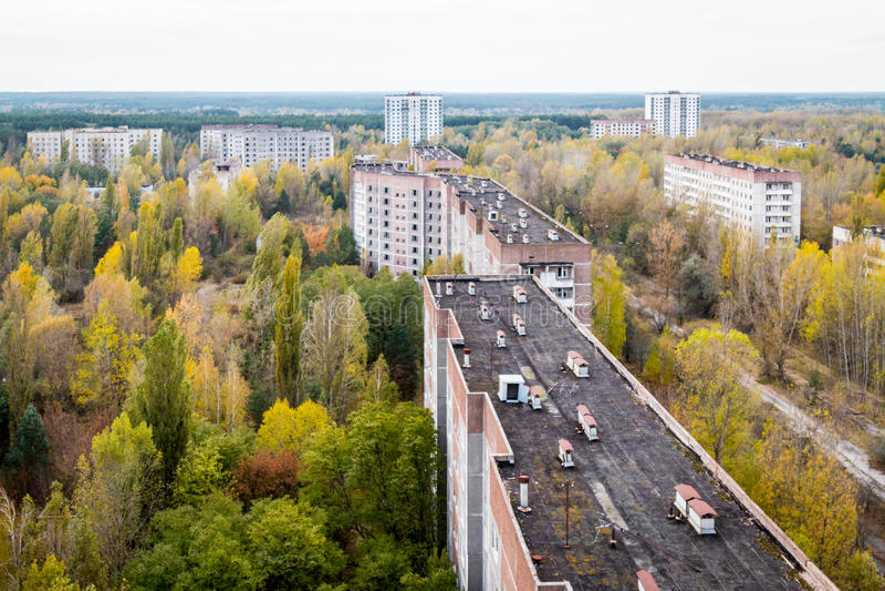 Pripyat鬼城在乌克兰 免版税库存图片
