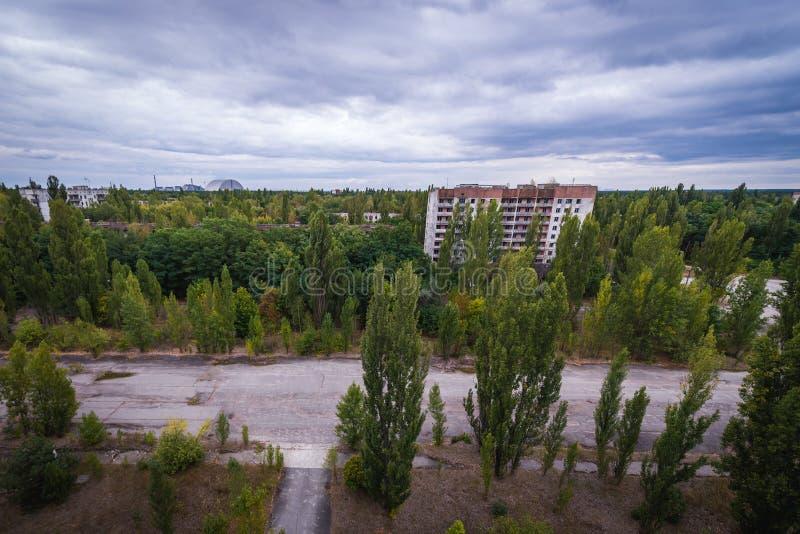 Pripyat em Ucrânia imagens de stock