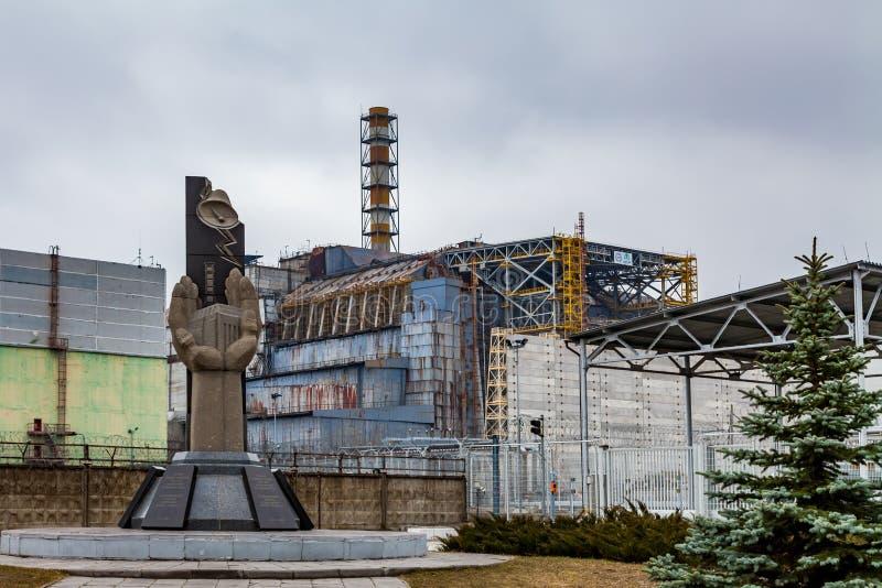 Pripyat, zona de exclusi?n de Chern?bil Central nuclear de Chernobyl fotos de archivo
