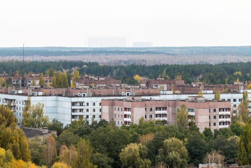 Pripyatspookstad in de Oekraïne stock foto
