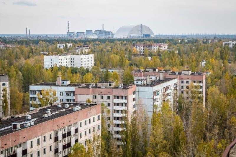 Pripyatspookstad in de Oekraïne royalty-vrije stock fotografie