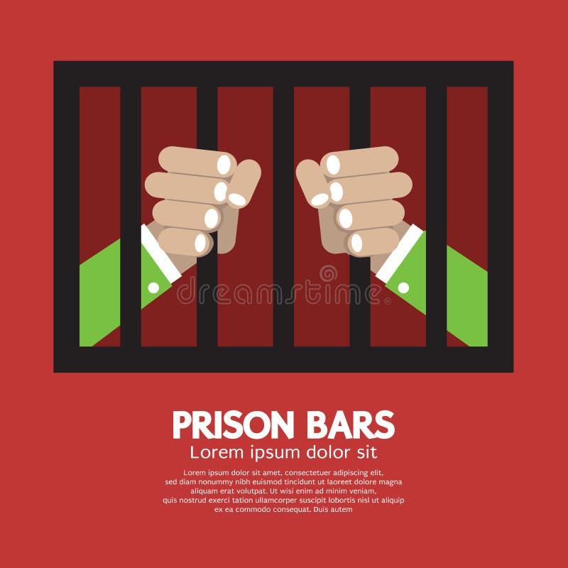 A prisão barra o gráfico ilustração do vetor