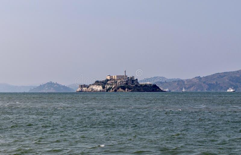 Prisão de Alcatraz em São Francisco, Califórnia fotos de stock