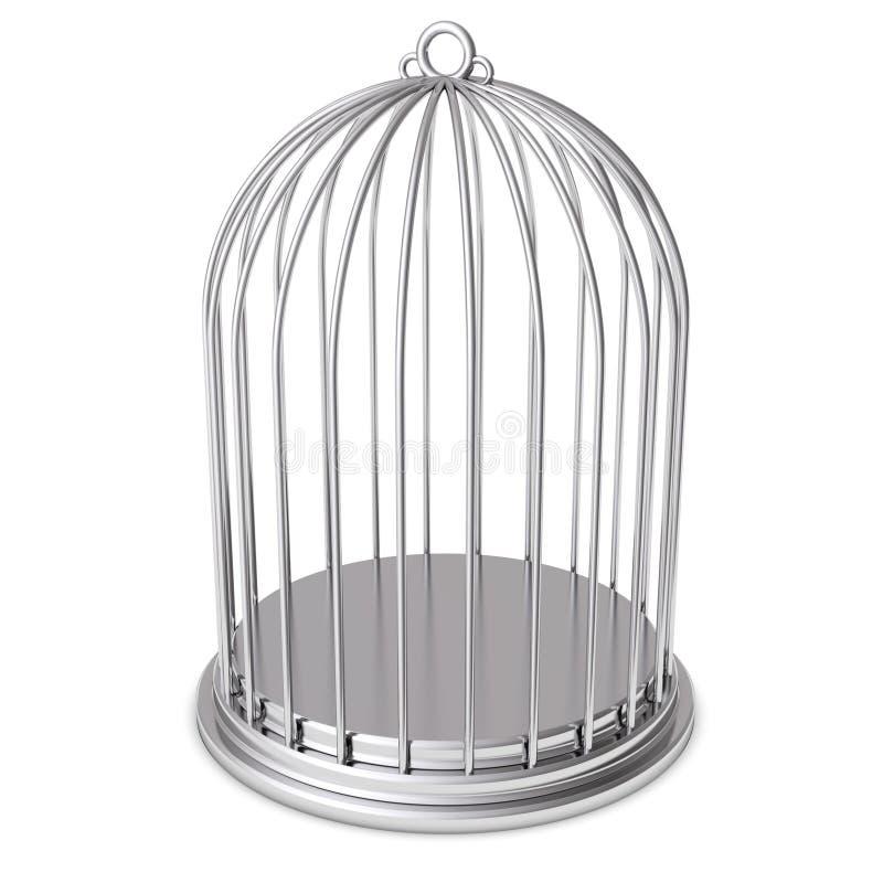 Prisão de prata do aço do birdcage ilustração do vetor