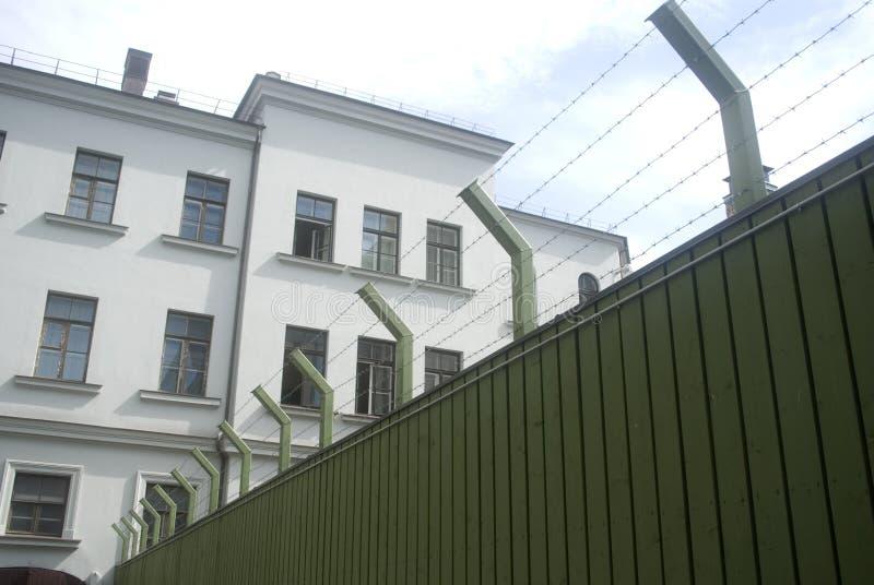 Prisão Ex-KGB, Vilnius, Lithuania imagem de stock