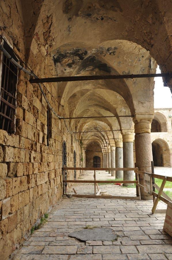 prisão muito velha no Jerusalém foto de stock royalty free