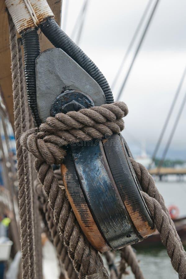 Pris à un chantier naval. photographie stock