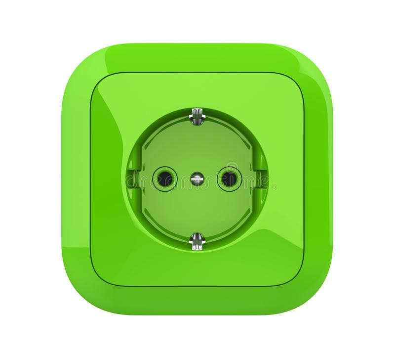 Prise électrique verte d'isolement illustration de vecteur