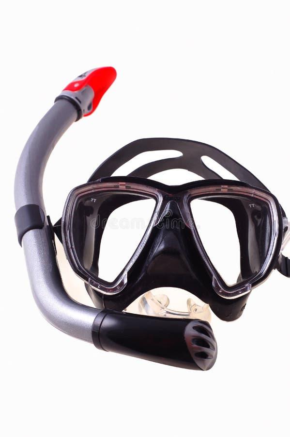 Prise d'air et masque de plongée photos libres de droits