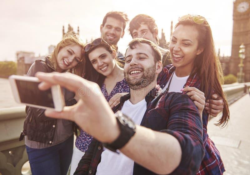 Prise d'un selfie images libres de droits